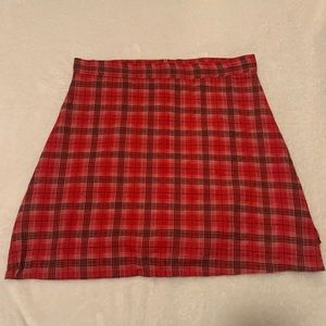 Dresses & Skirts - Red Plaid Mini Skirt